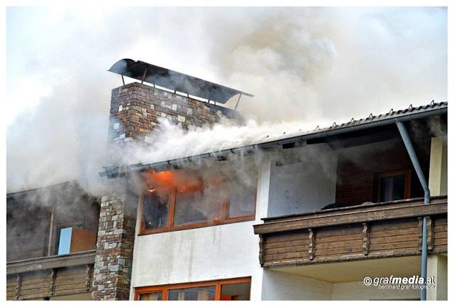 Brand Mehrfamilienhaus in Baumkirchen