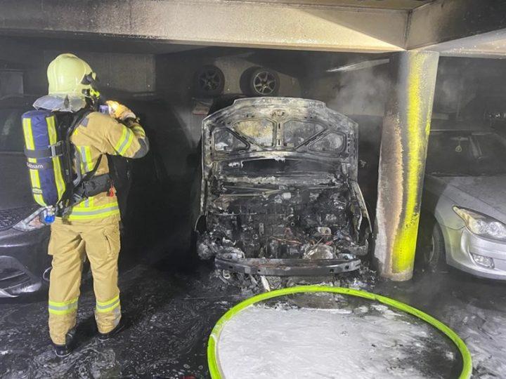 Tiefgaragenbrand in Absam