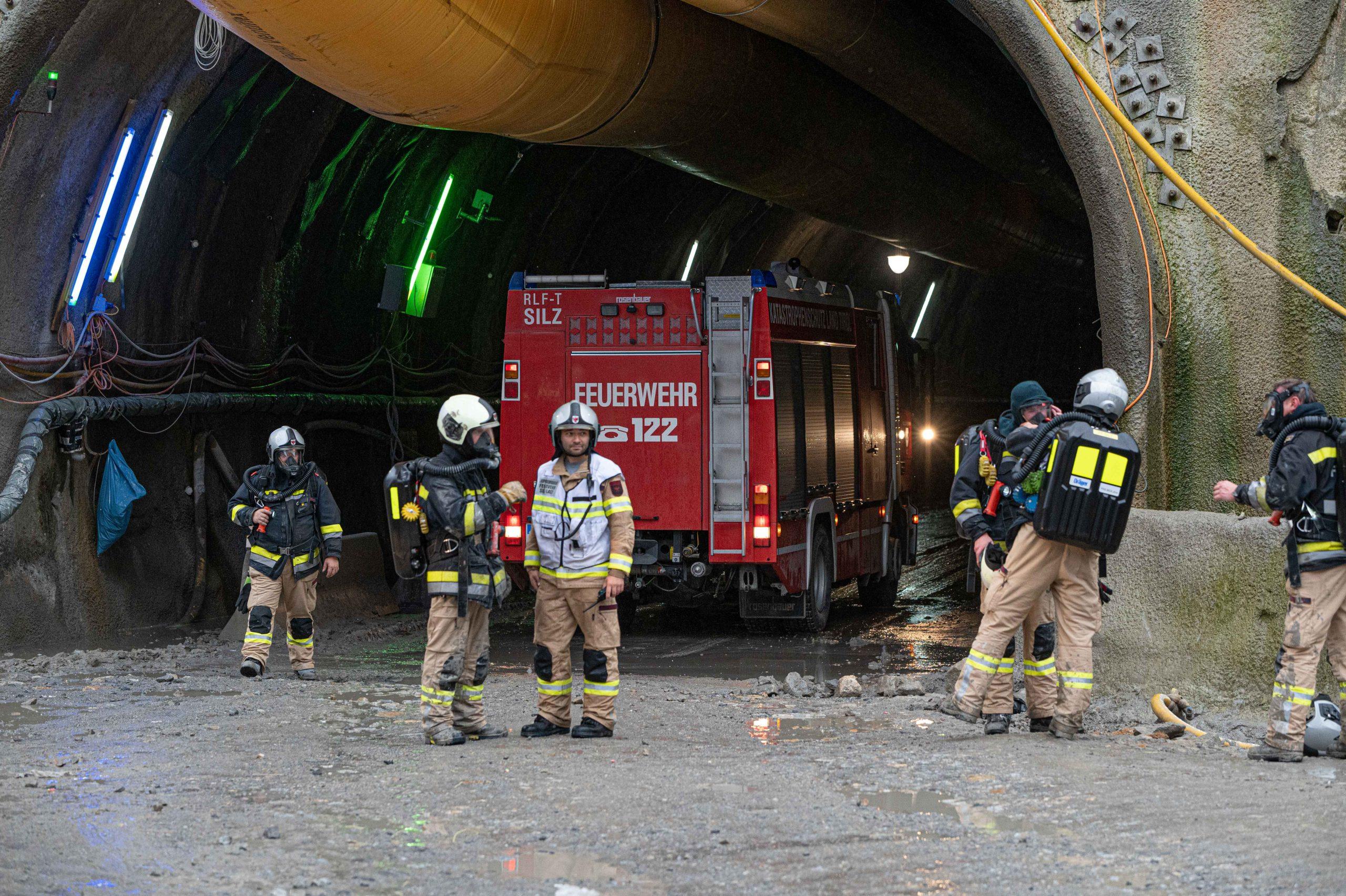 Fahrzeugbrand auf Kraftwerksbaustelle